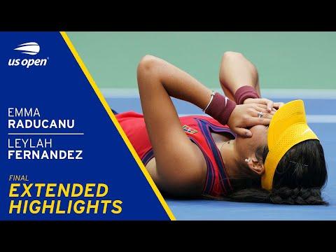 Emma Raducanu vs Leylah Fernandez Extended Highlights   2021 US Open Final
