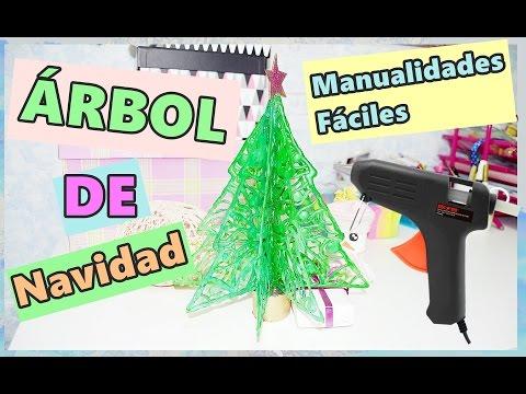 Rbol de navidad con silicona caliente manualidades - Manualidades con silicona ...