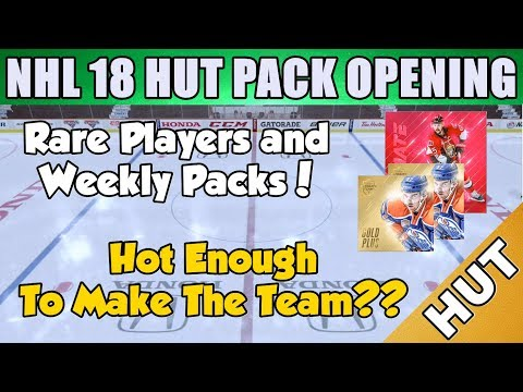 First Pack Opening Of The Year! - NHL 18 HUT - Hockey Ultimate Team - Rare Players Packs