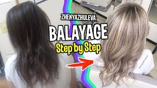 Балаяж из темного в блонд. Тест при осветлении волос. | How to Balayage Step by Step