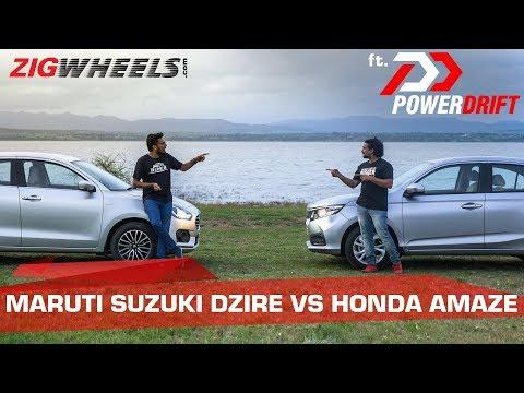 Honda Amaze vs Maruti Suzuki Dzire: The Chosen One   ft. PowerDrift   ZigWheels.com
