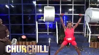 Eric Omondi - Weight Lifting