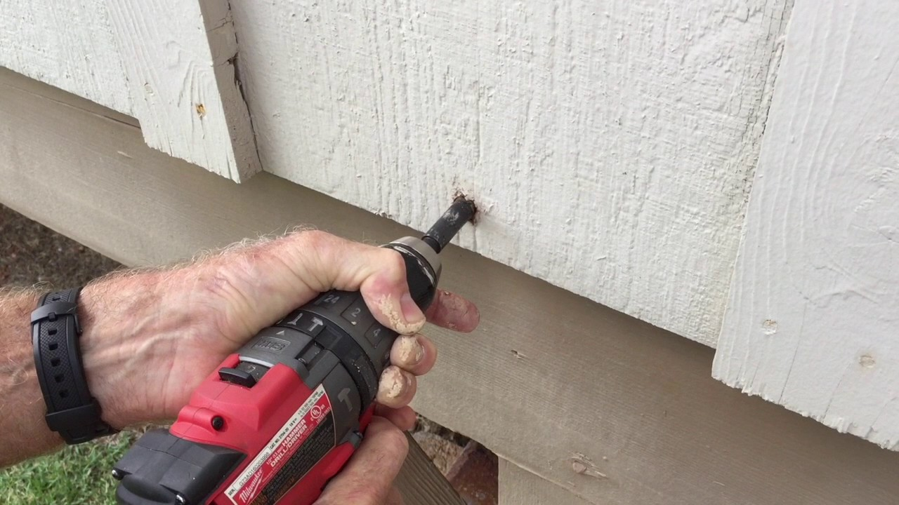 Nail Head Gone, remove rusted nail head and Secure Siding - YouTube