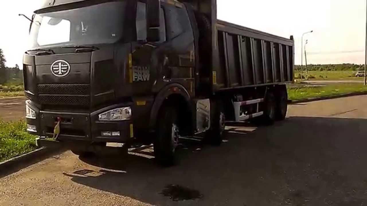 Китайские грузовики. FAW 8X4 CA3310P4K2T4 (1ое видео)