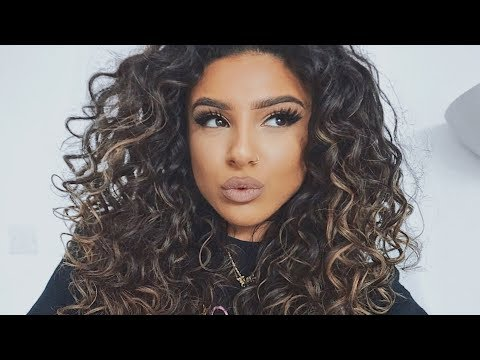 BIG CURLY HAIR TUTORIAL (how to get curlier hair NATURALLY!)
