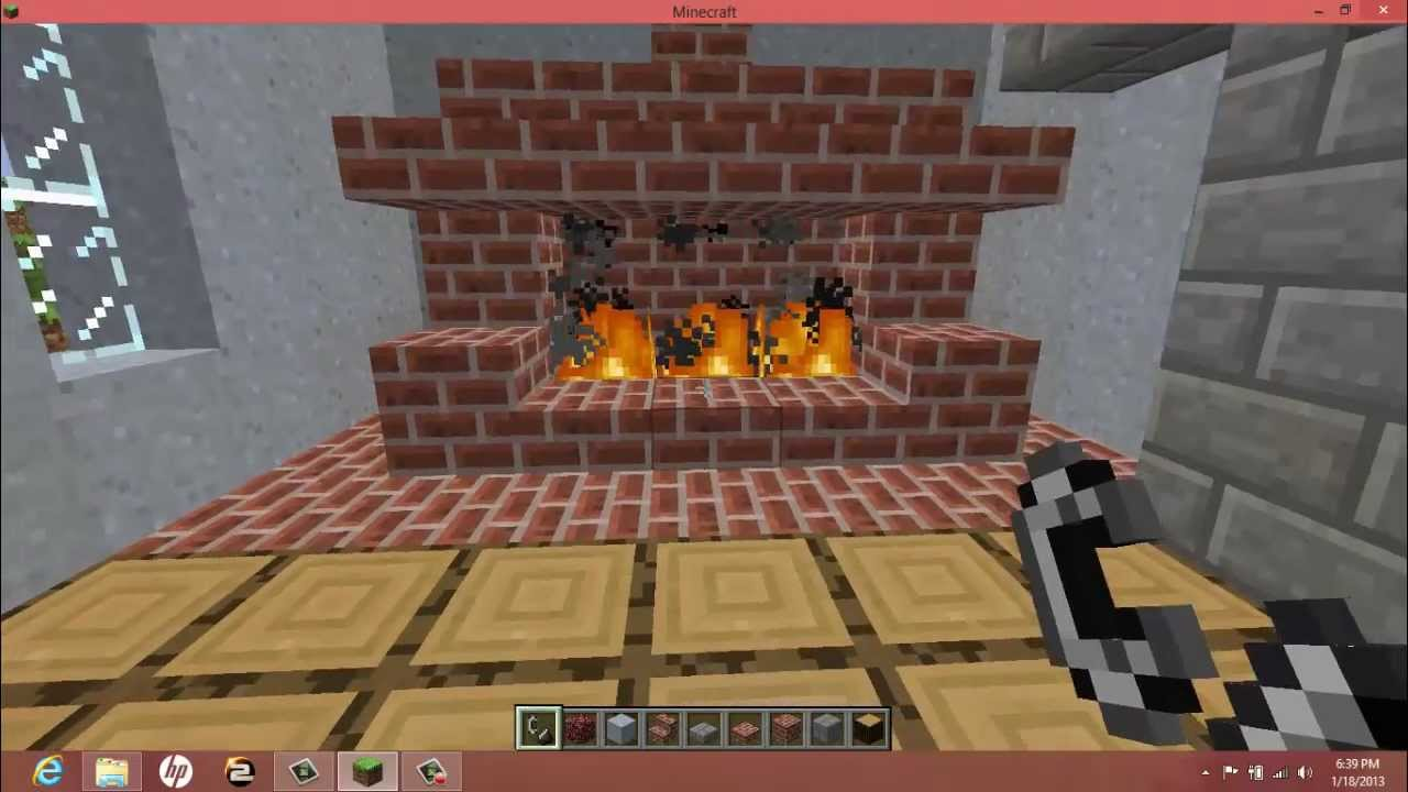 How to make an Old-Fashioned Fire Place in MineCraft ( An IDN ...