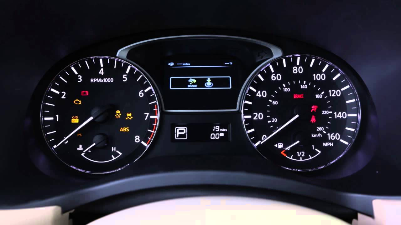 Nissan Altima Dash Lights Out