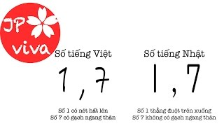 [JP viva] Chữ số của Nhật khác chúng ta || How Japanese numbers differ from ours