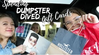DUMPSTER DIVED GIFT CARDS | SHOPPING SPREE