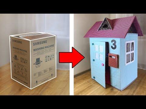 Домик из картонной коробки для ребенка своими руками