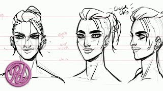 Learn To Draw Faces with Marisha & Babs   Pub Draw