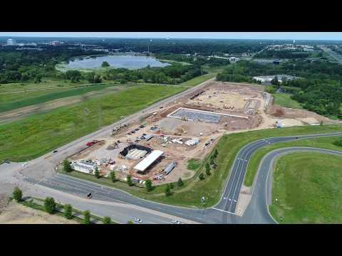 Costco Woodbury - Construction Progress Aerial Flight - August 5, 2017
