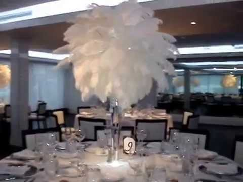 Great Gatsby Themed Wedding Centerpiece Rentals At The Harbor Club Prime Huntington NY