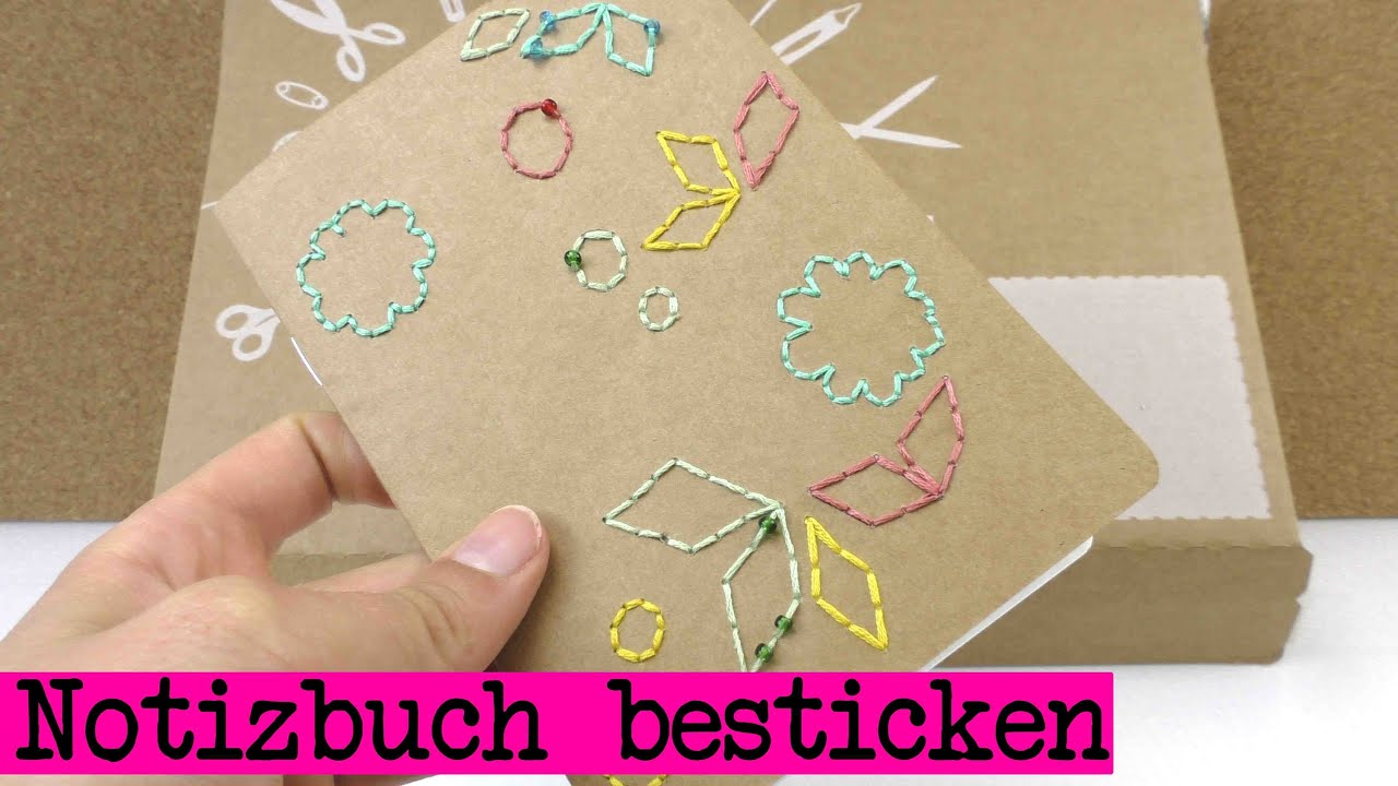 diy notizbuch gestalten besticken aus dem supercrafting kit youtube. Black Bedroom Furniture Sets. Home Design Ideas