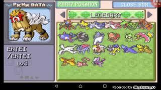Pokemon FireRed / Cheats Pokemons lendários