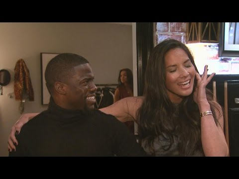 Exclusive: Behind-the-Scenes with Olivia Munn and Kevin Hart As They Prep for 'Lip Sync Battle'