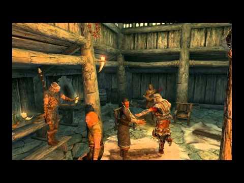 Skyrim - Приколы с багами (видео, юмор)
