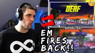 Rapper Reacts to EMINEM TONE DEAF LYRIC VIDEO!!   He Saw This Coming! (LIVE Reaction)