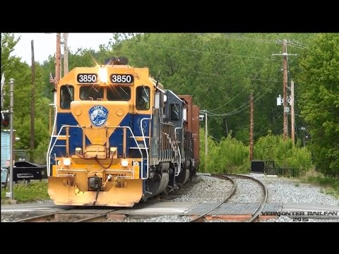[HD] Railfanning White River Junction VT W/CentralNewEnglandRR