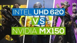 NVIDIA Geforce MX150 vs Intel UHD 620 2018! - Gaming Performance Test!