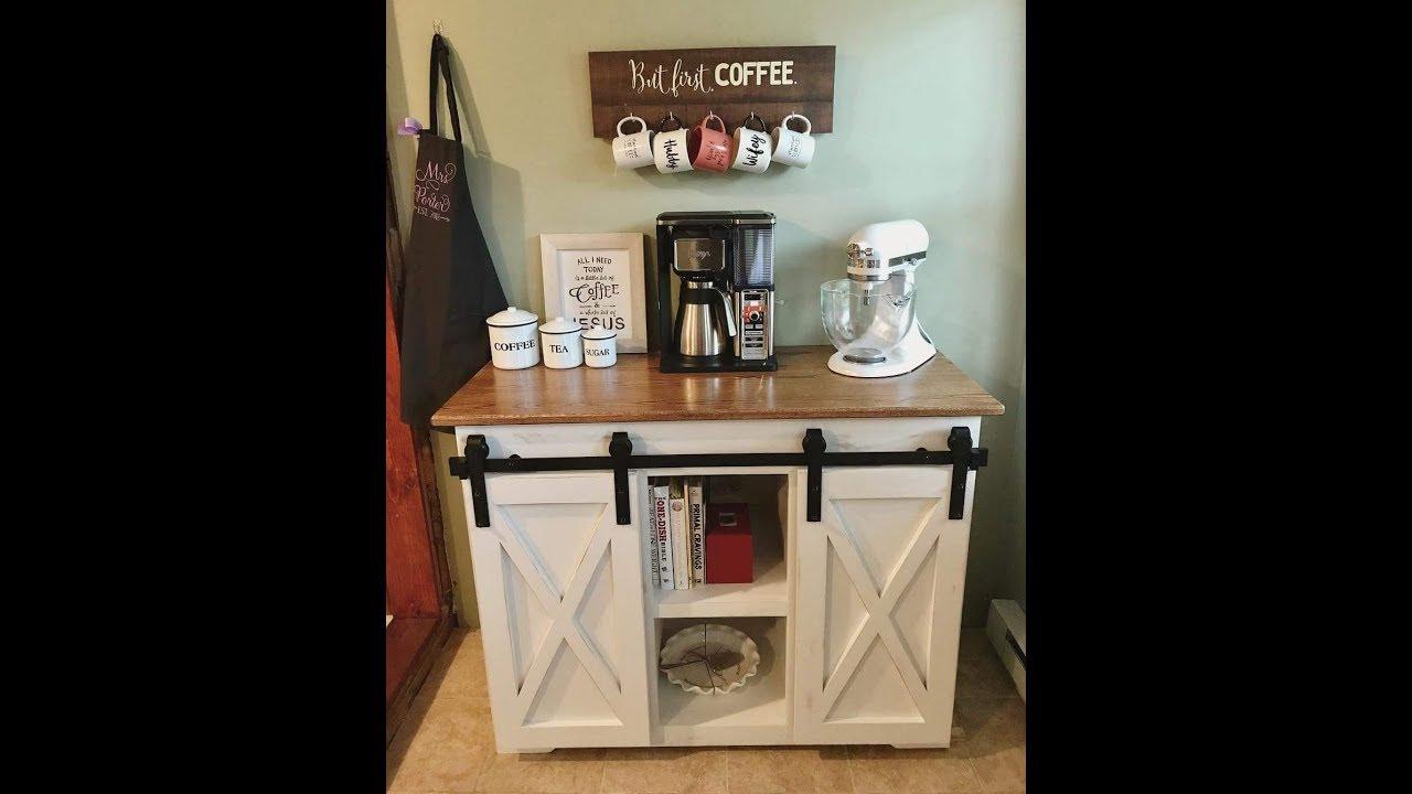 Making A Barn Door Coffee Bar Youtube