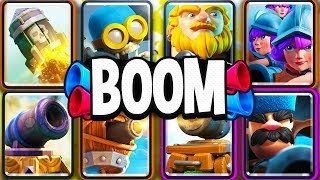 USING EXPLOSIVE UNITS ONLY in CLASH ROYALE is CRAZY!