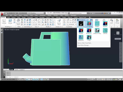 3D Solid Modelling - 7579 City and Guilds Watering Can - Part 1
