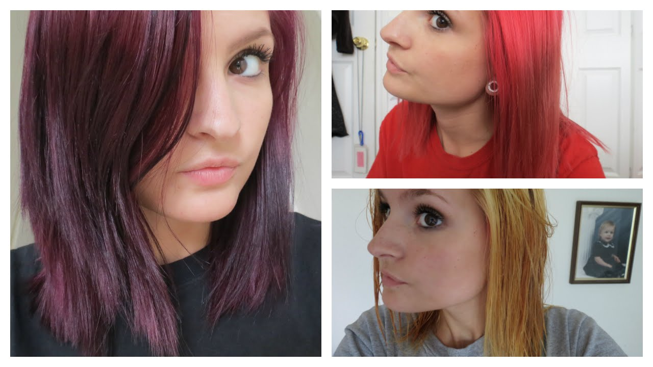 How I Went From Bright Red To Purple Hair Color Oops Vs London