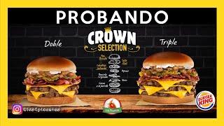 Probando las nuevas hamburguesas Crown Selection de Burger King