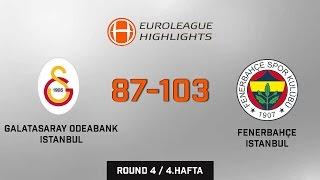 Galatasaray Odeabank Istanbul 87-103 Fenerbahçe Istanbul Full Highlights