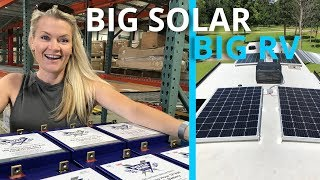 BIG RV SOLAR & LITHIUM BATTERY SETUP **Not so DIY