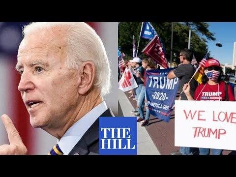 """VIRAL MOMENT: Joe Biden calls pro-Trump hecklers """"chumps"""" at Saturday rally"""