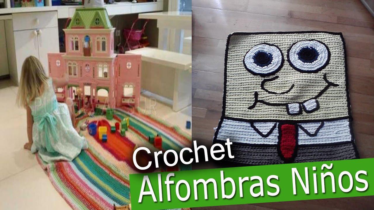 Alfombras infantiles tejidas a crochet dise os youtube - Alfombras para jugar ninos ...