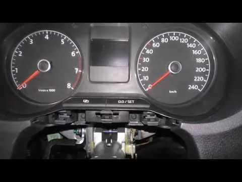 Как снять щиток приборов  VW Polo Sedan