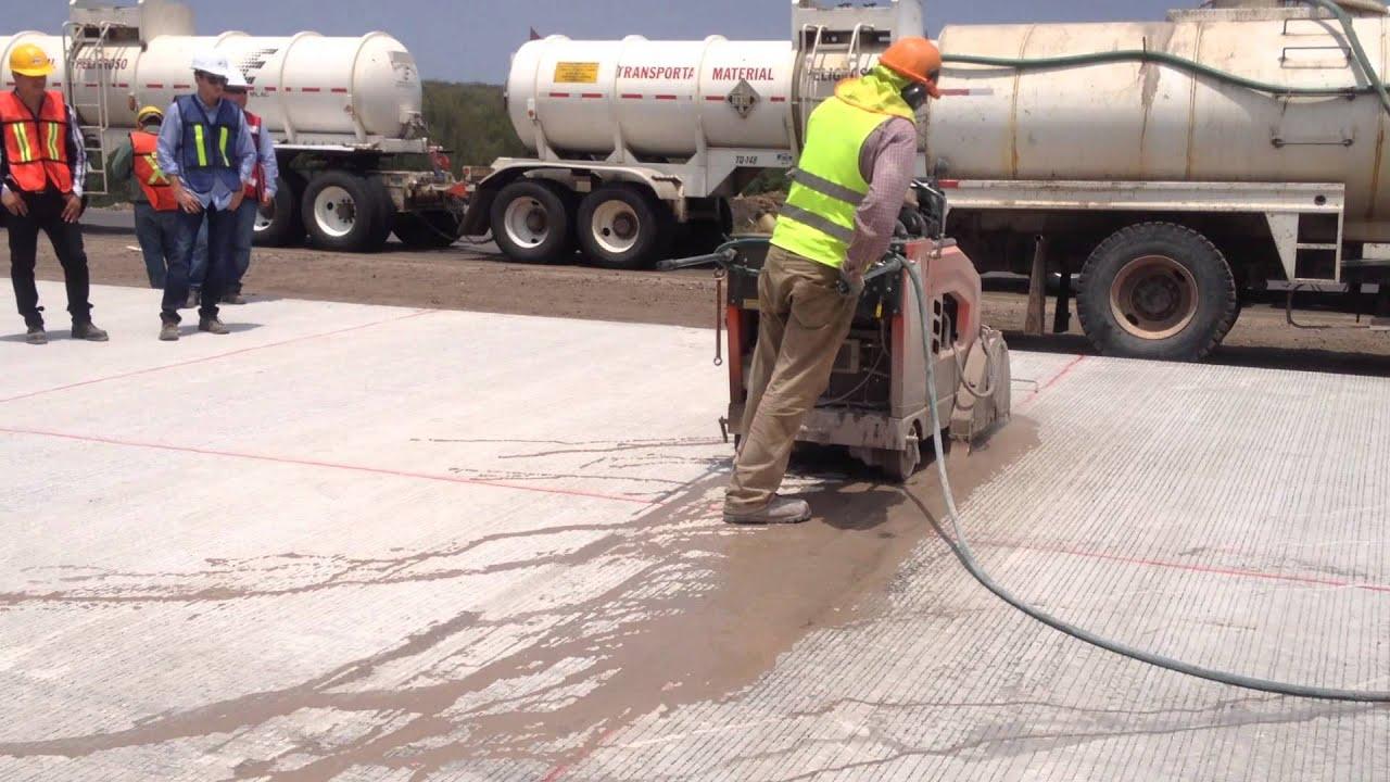 Corte transversal en pavimento de concreto hidr ulico for Pavimento de cemento