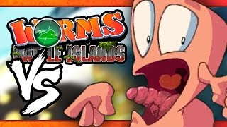 VS MODE: Worms: Battle Islands - Diving Dongle (Part 2) (3-Player)