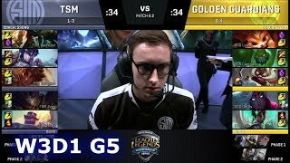 Video TSM vs Golden Guardians | Week 3 Day 1 of S8 NA LCS Spring 2018 | TSM vs GGS W3D1 G5 download MP3, 3GP, MP4, WEBM, AVI, FLV Juni 2018