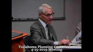 Tullahoma Planning Commission Meeting 04-15-2019