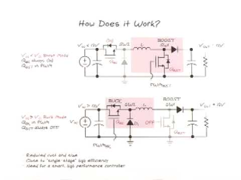 Circuit Diagram Of Buck Boost Converter Usb 2 0 Wire Small Size Very High Efficiency Youtube