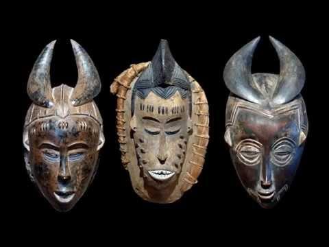 Masques africains de Côte d'Ivoire.
