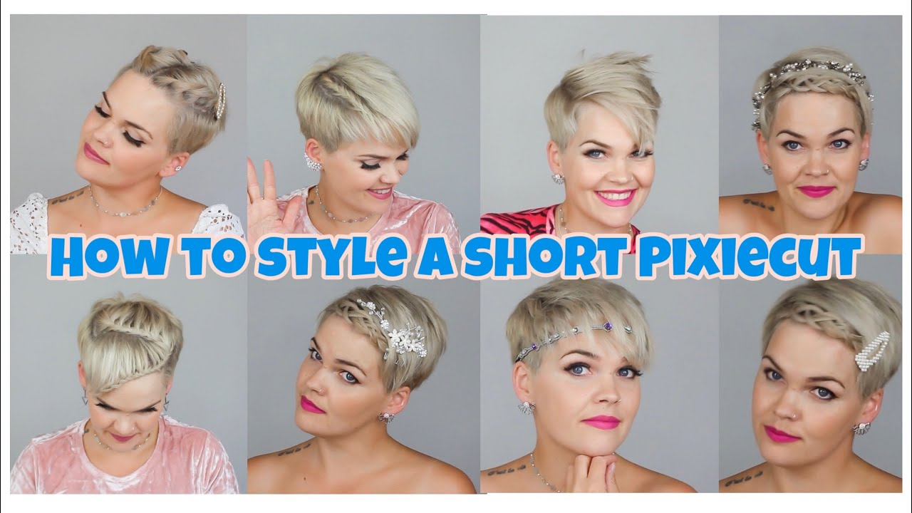 How To Style A Short Pixiecut 2 12 Ways To Style Short Hair Salirasa Youtube