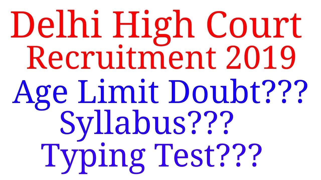 Court Limits Special Education >> Delhi Court Recruitment 2019 All Doubts Special Education