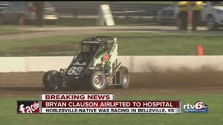 Noblesville-native Bryan Clauson seriously injured in race car crash thumbnail