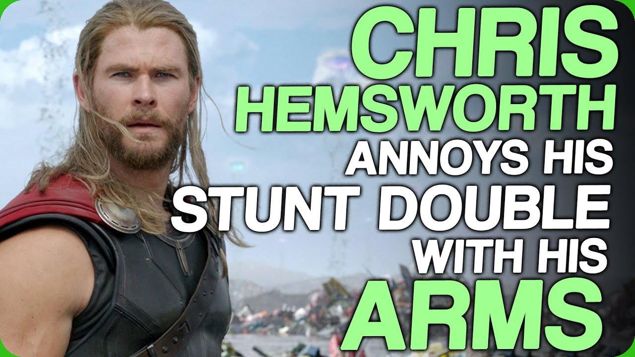 Chris Hemsworth Annoys His Stunt Double With His Arms (Exercise During Lockdown)