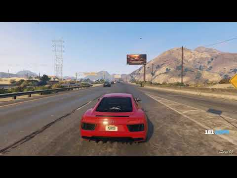 GTA5 audi r8 [GAMEPLAY]