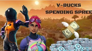 FORTNITE BATTLE ROYALE: V-Bucks Spending Spree! (Featuring Dark Vanguard)