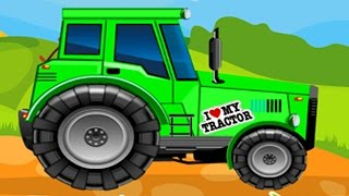Farm Tractors Wash Up Repair & Design Amazing Game For Children & Toddlers