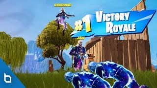 GALAXY SKIN vs. GALAXY SKIN ft. Randumb & Jaw! (INSANE FORTNITE WIN)