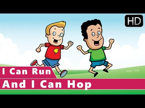 i-can-run-and-i-can-hop-|-action-songs-|-animation-nursery-rhymes-for-kids