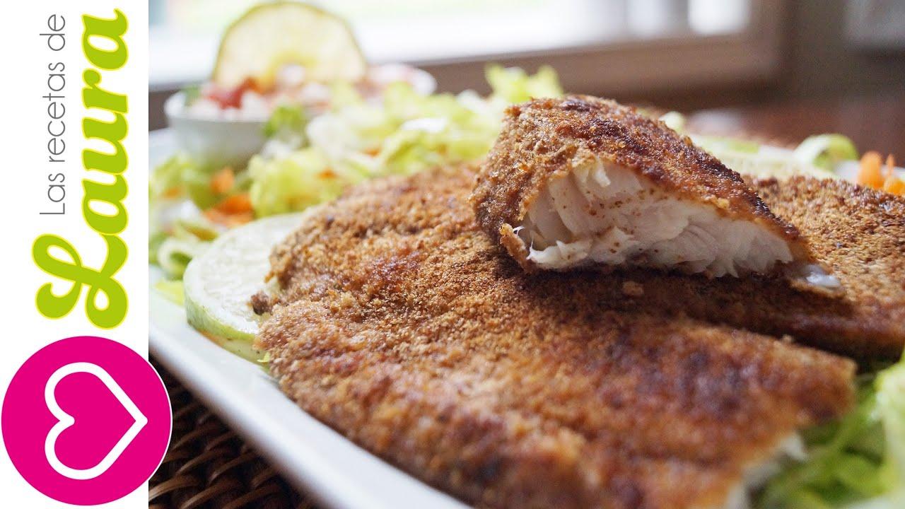 Pescado empanizado sin aceite y sin horno recetas for Comida para tilapia